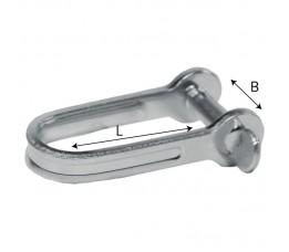 Plaatsluiting RVS 4 mm (10x15)
