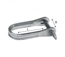 Snelplaatsluiting Val RVS 6 mm (14x37)