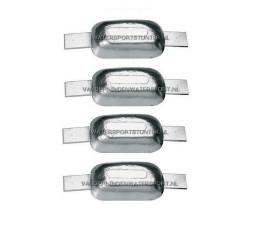 Aluminium Anode 0,6 kg (Stripanode) *** 4 STUKS ***
