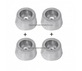 Huidanode Aluminium Type 8 *** ACTIE 4 STUKS ***
