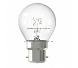 Kogellamp 24 Volt 15 Watt Helder Bajonetfitting B22