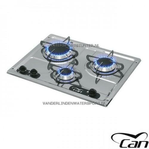 Can Kooktoestel RVS 3-Pits