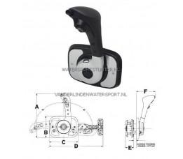 Motorbediening Teleflex CH1700 Zijmontage Chroom