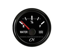CN Watermeter 12 / 24 Volt Zwart