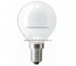 Kogellamp 12 Volt 25 Watt Mat Schroefdraad E14