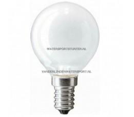 Kogellamp 12 Volt 40 Watt Mat Schroefdraad E14