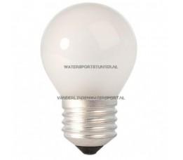 Kogellamp 12 Volt 15 Watt Mat Schroefdraad E27