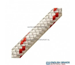 English Braid 6 mm Wit / Rood