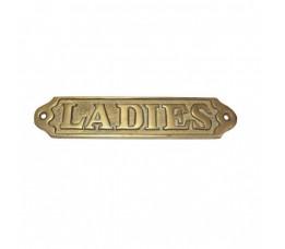 Naamplaat Ladies Messing