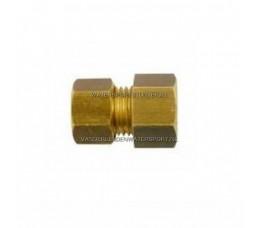 Koppeling Recht 1/8 Binnendraad x 8 mm Gas Messing