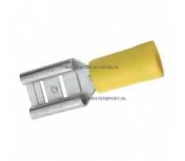 Vlakstekker AMP Geel 6,3 mm