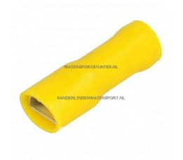 Vlakstekker Geisoleerd AMP Geel 6,3 mm