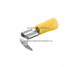 Vlakstekker + Tab AMP Geel 6,3 mm