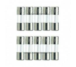 Glaszekering 5x20 mm 6,3 Ampere / 10 Stuks
