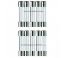 Glaszekering 6,3x32 mm 10 Ampere / 10 Stuks