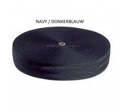Hangband Polyester 38 mm Navy / 50 METER
