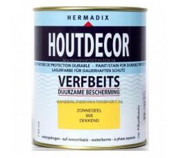 Hermadix Houtdecor 608 Zonnegeel Dekkend 750 ml