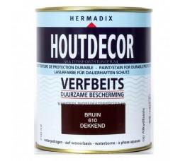 Hermadix Houtdecor 610 Bruin Dekkend 750 ml