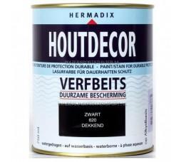 Hermadix Houtdecor 620 Zwart Dekkend 750 ml