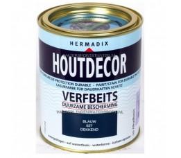 Hermadix Houtdecor 627 Blauw Dekkend 750 ml
