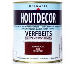 Hermadix Houtdecor 633 Wijnrood Dekkend 750 ml