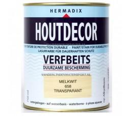 Hermadix Houtdecor 658 Melkwit Transparant 750 ml