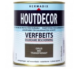 Hermadix Houtdecor 660 Grijs Transparant 750 ml