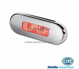 Hella LED Traplamp 10-30 Volt Chroom-Rood
