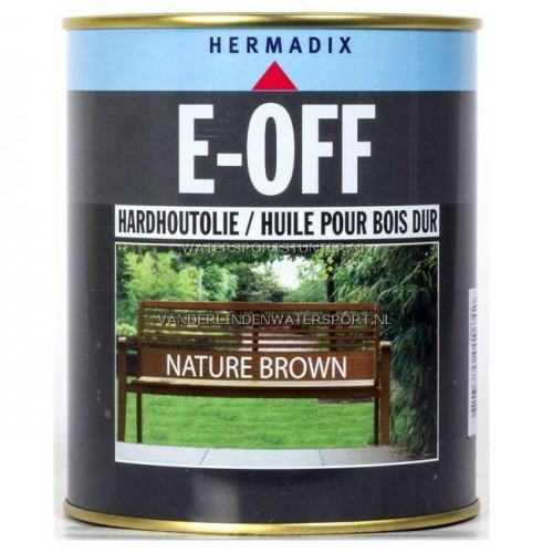 Hermadix E-Off Hardhoutolie Nature Brown 750 ml