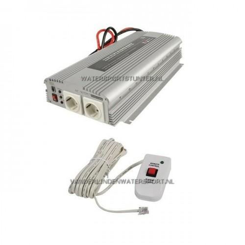HQ Omvormer 12 Volt 1700 Watt + Afstandsbediening