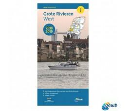 ANWB Kaart J - Grote Rivieren West 2018/2019