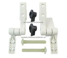 Jabsco Scharnierset Toilet Compact Standaard Pot / 29098-1000