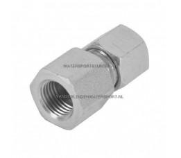Koppeling Recht 1/4 Binnendraad x 10 mm Gas Staal