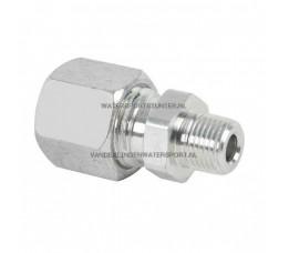 Koppeling Recht 3/8 Buitendraad x 8 mm Gas Staal