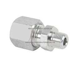 Koppeling Recht 1/2 Buitendraad x 10 mm Gas Staal