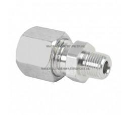 Koppeling Recht 1/4 Buitendraad x 6 mm Gas Staal