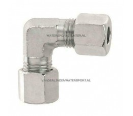 Koppeling Haaks Knie 15 mm Gas Staal