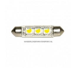 Led Buislamp 3-Leds 10-30 Volt 42 mm Warm