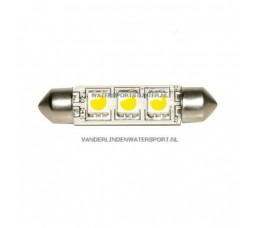 Led Buislamp 3-Leds 10-30 Volt 42 mm Cold