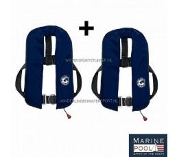 Marinepool Reddingsvesten Set 2x Navy 165N
