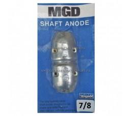 MGDuff Schroefasanode Zink 22 mm 7/8