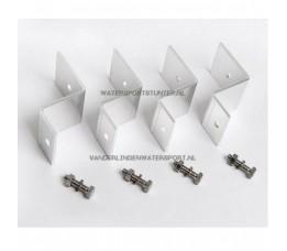 Beaut Montagebeugels Set 4 stuks Aluminium