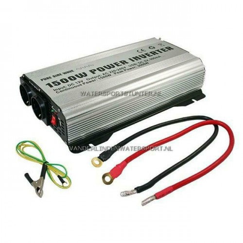 Pure Sinus Omvormer 12 Volt 1500 Watt ZAB