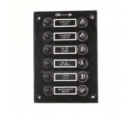 Schakelpaneel VDL Zwart 12 Volt 6-Voudig