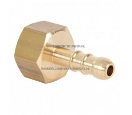 Slangpilaar 3/8 Binnendraad Gas Messing