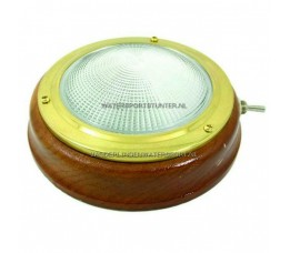 Plafonniere Teak 12 Volt 160 mm