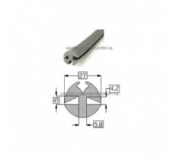 Raamrubber Grijs 4,2 / 5 mm - 12,5 Meter