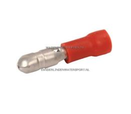 Rondstekker AMP Rood 4,0 mm / 119 Stuks