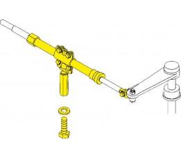 SeaStar Stringer Montageset 124 mm Binnenboord