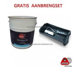 Scirocco NL Antifouling 5 Liter Roodbruin + VERFSET !!!